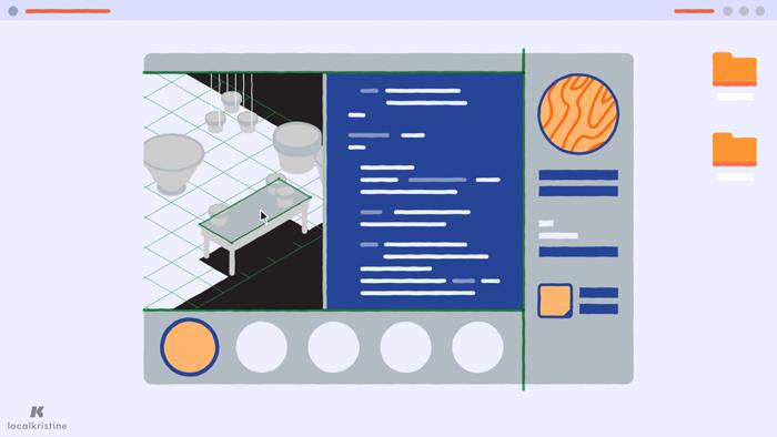 Desktop with a Unity-like program.
