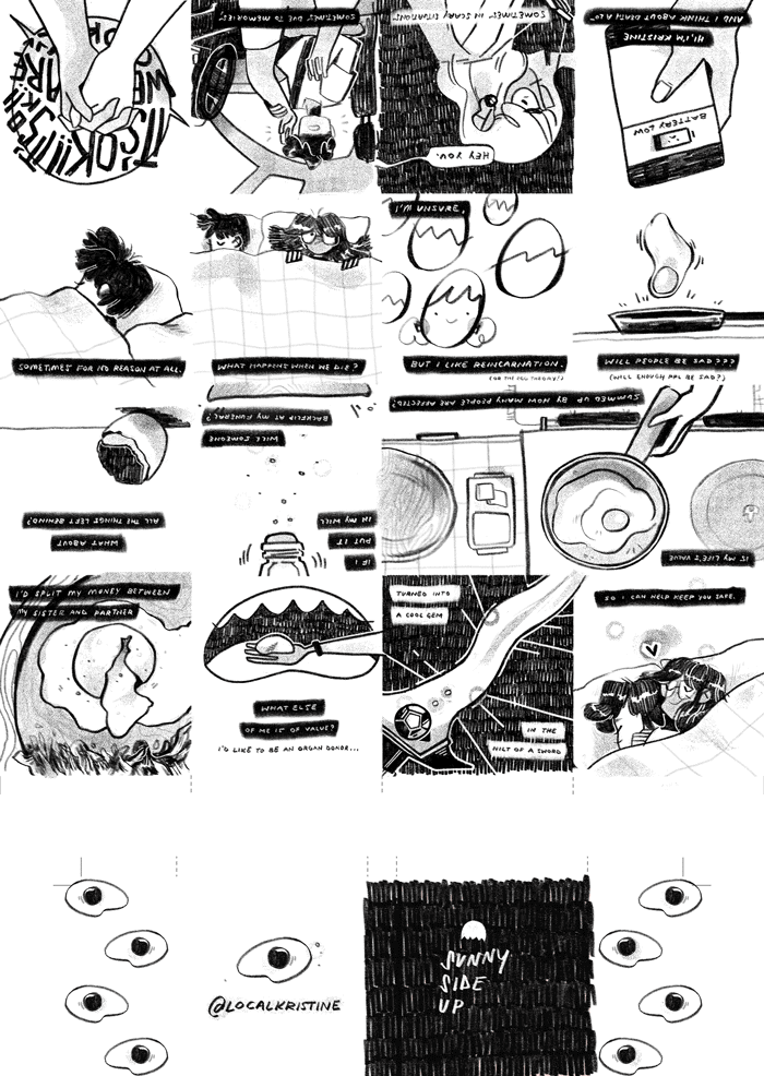 All zine pages, in their print-format
